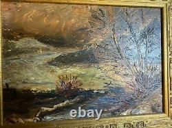 Under Wood In Touraine, Oil On Panel Painting, Expressionist Art Deco