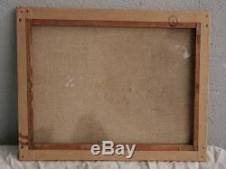 Undergrowth Light Oil On Cardboard Bousquet (33 X 46)