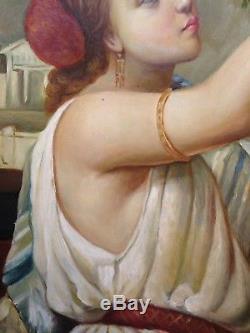 V1870 Romantic Italian Painting Oil Romantic Oil Painting Italian 19th