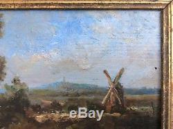 Van Hermeer Or Hemmeer Style Ec Holl Xixth Landscape Herd Mill, Pond Hsp