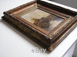 Very Nice Oil On Wood, Barbizon, Signed L. Dupuy Pseudo Eug. Galien-laloue