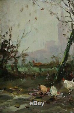 Victor Fermeuse, 1894, Farmhouse 1930, Heyst, Hens, Coté 800 Euros