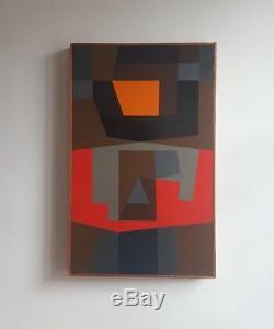 Victor Noel (1916-2006) Belgian Geometric Abstraction. Cubist Constructivist
