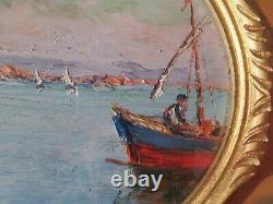 Vincent Managoles Martigues Oil 32x22cm. Beautiful Colors And Light