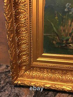 Wood Oil Peinture And Wood Framework Epoque 17th Siecle