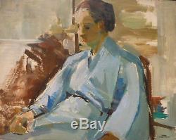Yvonne Dewals (xx) Hsp Kimono / Belgian School Expressionism / 40s Or 50s