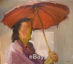 Yvonne Dewals (xx) Parasol Hsp / Belgian School Expressionism / Years 40 Or 50