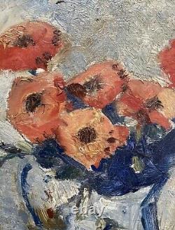 Zawadwinsky Czeslaw S Oil / Panel Still Bouquet Flower Painting Poland