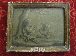 +/- 1800 Peinture Grisaille / Putti chérubin angelot / Piat Joseph Sauvage att