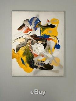 1900 MELYNA DALI PEINTURE ABSTRACTION FORME-LIBRE PSYCHEDELIQUE Jackson Pollock