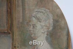 ADRIEN KARBOWSKY 1932 INTERIEUR D'AMATEUR D'ARTbuste, livres, lettres, tableaux