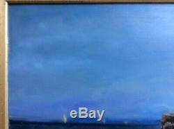 APPIAN Paysage Bord de mer animé Personnages corniche, barque, HSP 34x65