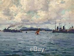 Adolphe Louis Gaussen (1871-1957)-Marseille-Port de Toulon-Marine