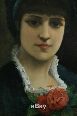 Agapit Stevens, 1849, Portrait, Jeune femme, Dame, Cotation jusque 15000 euros