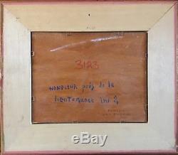 Alain WIELHORSKI 1950-2015. Honfleur. Huile/panneau. SBG. 19x24. Titrée, datée. Cadre