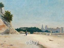 Albert BALMIER tableau huile paysage Midi Provence Villeneuve les lez AVIGNON