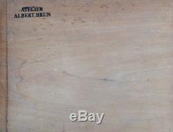 Albert BRUN 1887-c. 1950. Paysage. Huile sur bois. Monogrammé en bas à gauche. 19x24