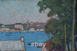 Alfred Marzin (1880-1943) Sainte-Marine, Bretagne, Finistere, marine, bateau, pêche
