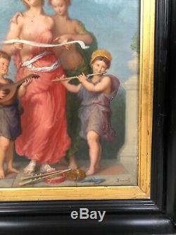 Allégorie de la musique peinte par Brunel