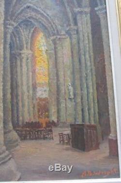 Alma (A. B.) Brockerman Wright huile sur panneau oil on board utah artist chuch