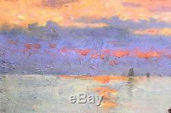 Alphonse CHIGOT, Paysage, Mer, Tableau, Peinture impressionnisme, militaire