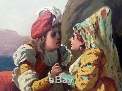 Ancien Tableau Francisco Ortego Y Vereda (1833-1881) Peinture Huile Oil Painting