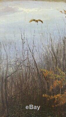 Ancien Tableau La Musette Peinture Huile Antique Oil Painting Ölgemälde Ölbild