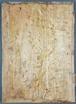 Ancien Tableau Portrait d'un Homme au Turban Peinture Huile Antique Painting