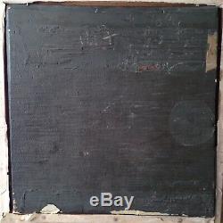 Ancien tableau Etude XIXeme Femme au Naufrage Ecole Française Huile sur bois
