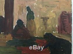 Ancienne huile sur bois René PIROLA orientaliste Old Painting XIXeme