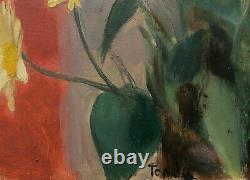 André Albert TONDU tableau portrait femme pensive Mélancolie huile art moderne