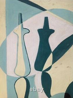 André-POUJET (1919-1996) Rare Tableau HST huile 1944 Braque Picasso 76ans Échec