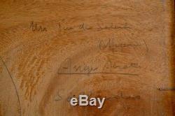 Ange Abrate Megève Huile sur bois 32x23cm Torino Sallanches Chamonix