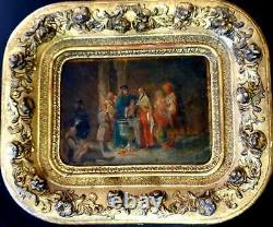 Antique Albanian Greek orthodox baptism balkan Painting Orientalist Hellenistic