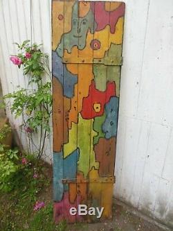 Art Brut Peinture Sur Porte Bois