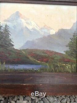 Astrid Walford huile sur bois années 1950