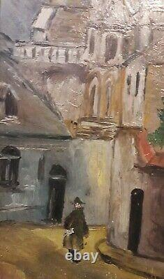 Attribué à Elisée MACLET (1881-1962) ENVIRONS DE PARIS HUILE SUR BOIS Ca 1940