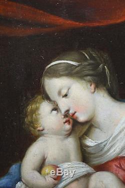Attribué à Jacques Stella (1596-1657). Vierge à l' Enfant