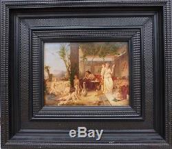 Auguste Coomans Pompei Peinture Belge 19e Huile Panneau Romantique Peinture