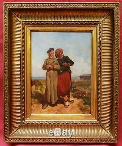Auguste HADAMARD paire tableaux huile Guerre Paix Crimée Russie militaria soldat