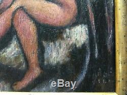 BELA KADAR (1877-1955) BAIGNEUSES, HUILE SUR BOIS SIGNÉE, FORMAT 41 x 31 CM