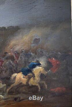 BREYDEL KAREL CAREL dit CAVALIER CHEVALIER scène de bataille signé XVII XVIII