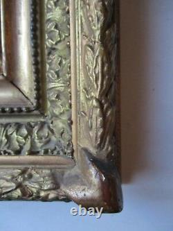 Beau petit Tableau peinture HSP BARBIZON XIXe PAYSAGE chasseur, à identifier