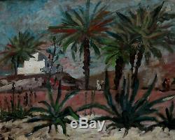 Bel Orientaliste 1950. Algérie & Tunisie Des Peintres. Paysage Animé. Signé