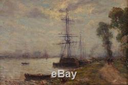 Belle marine impressionniste, Charles Malfroy (1862-1918)