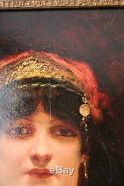 Benjamin Constant (Orientaliste) huile sur panneau acajou