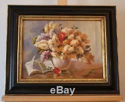 Bouquet de Lilas. Joli nature morte encadrée