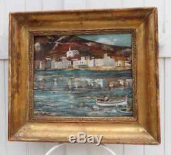 Cadaques 1900. Bel Impressionniste Espagnol. S. Matilla Marina 1862-1937 (at.)