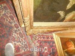 Cadre d, epoque en bois doré sculpté louis XIV format portrait 81 cm par 65 F