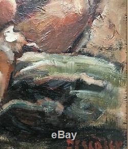 Camille Descossy Tableau Hsp Peinture Nu Féminin 1950 Ceret